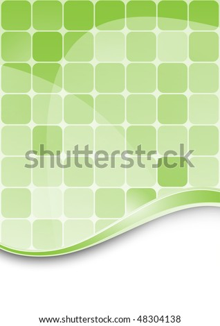 Green abstract background template. Vector EPS 10 - stock vector