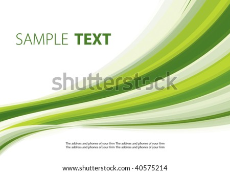 Green abstract background. Vector - stock vector