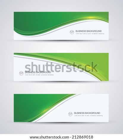Green abstract beautiful business vector background wave banner - stock vector