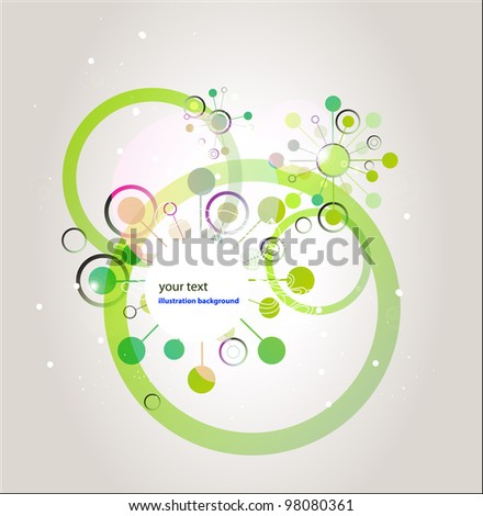 Green Abstract circles banner
