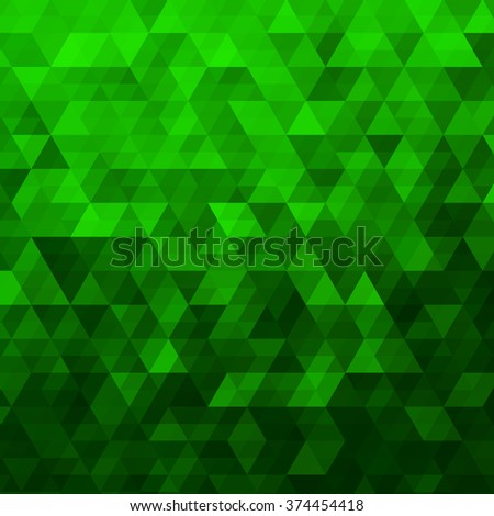 Green Abstract Geometric Triangle Background - Vector Illustration Abstract Polygon Vector Pattern - stock vector