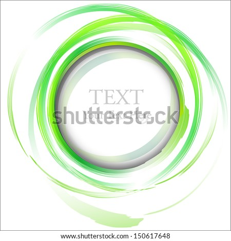 Green abstract painting design element. - stock vector