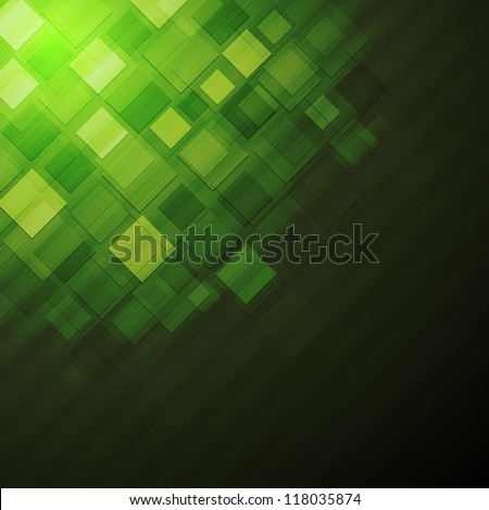 Green abstract technology design. Eps 10 vector background - stock vector