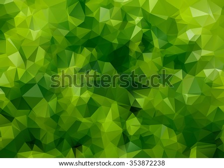 Green abstract Two-dimensional  colorful background for web design - stock vector