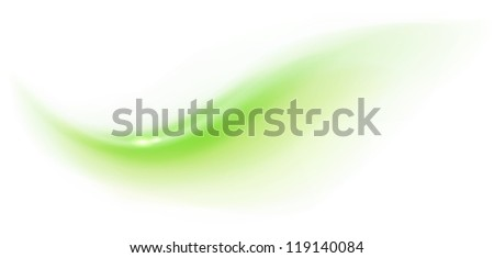Green abstract wave on white background - stock vector