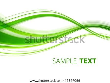 Green abstract wave. Vector - stock vector
