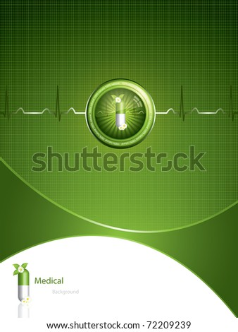 Green alternative medication concept - Medical background - stock vector