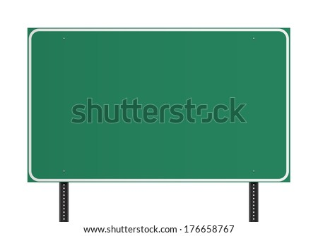 Green American traffic sign