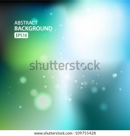 Green and blue abstract light background. Vector illustration - stock vector
