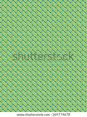 Green and blue line pattern over cream color background - stock vector