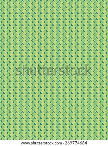 Green and blue line pattern over green color background - stock vector
