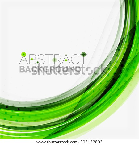 Green and blue lines background, corporate business lines