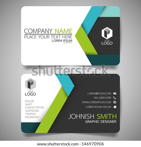 Green blue modern creative business card stock vector 546970906 green and blue modern creative business card and name cardhorizontal simple clean template vector accmission Image collections