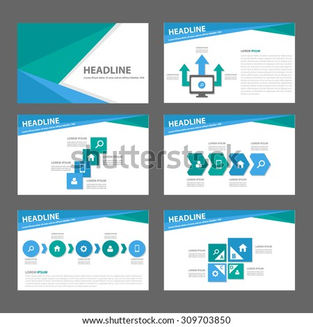 Green and blue multipurpose infographic  presentation template flat design set step and process for advertising marketing brochure flyer  - stock vector