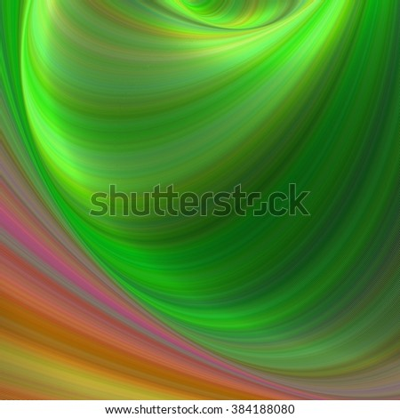 Green and brown abstract fractal vector background - stock vector