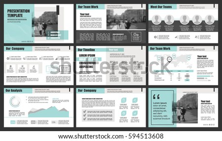 Green and gray elements for infographics. Presentation templates. Use in presentation, flyer and leaflet, corporate report, marketing, advertising, annual report, banner.