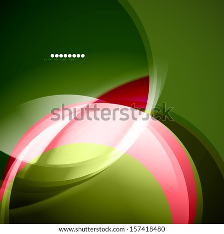 Green and pink waves. Can be used for business presentation, technology concept, abstract background