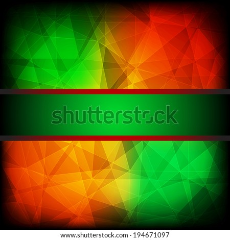 Green and red abstract background with frame