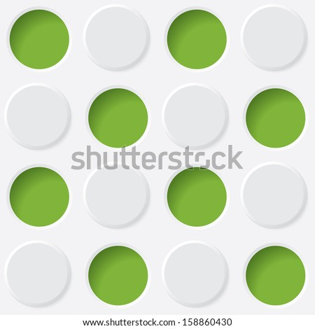 green and white circles. vector seamless texture. eps10
