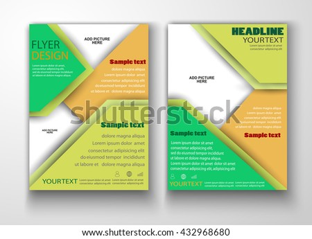 Brochure Annual Report Flyer Magazine Cover Stock Vector