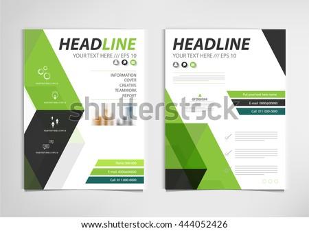 Green Annual Report Brochure Template Design Stock Vector - Brochure templates design