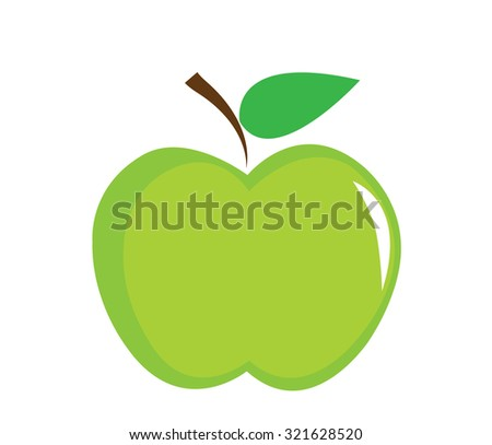 Green apple background Vector - stock vector