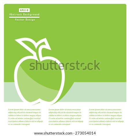 Green apple flat icons. Vector Concept. - stock vector