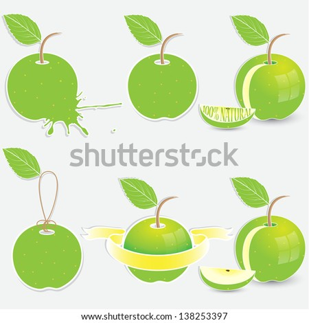Green apple tags
