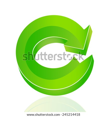Green arrow vector - stock vector