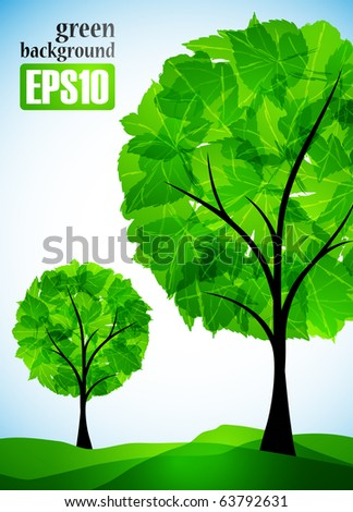 green background, eps10 - stock vector