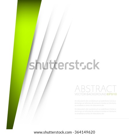 Green background vector paper overlap layer and white space for text and message background design - stock vector
