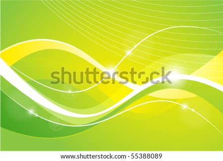 Green background with lines - stock vector