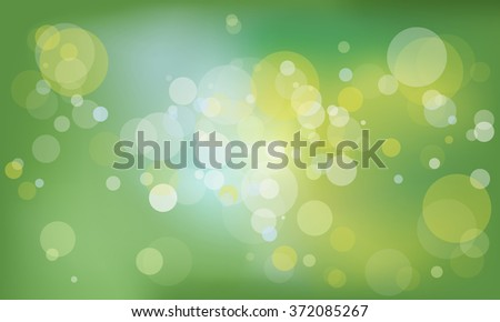 green background with shimmering circles