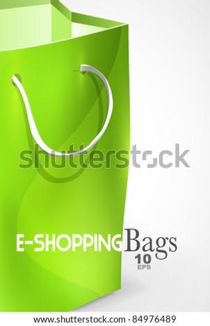 Green bag background - stock vector