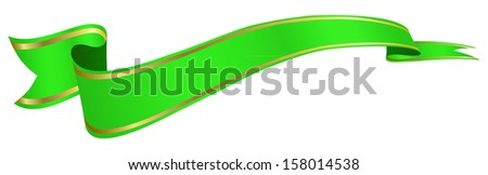 green banner - stock vector