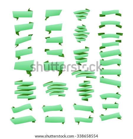Green Banners and Labels/Web Stickers, Tags, Banners and Labels Flat design of Web Stickers, Tags, Banners and Labels collection./ Web Stickers, Tags, Banners and Labels./Web Stickers, Tags,  art - stock vector