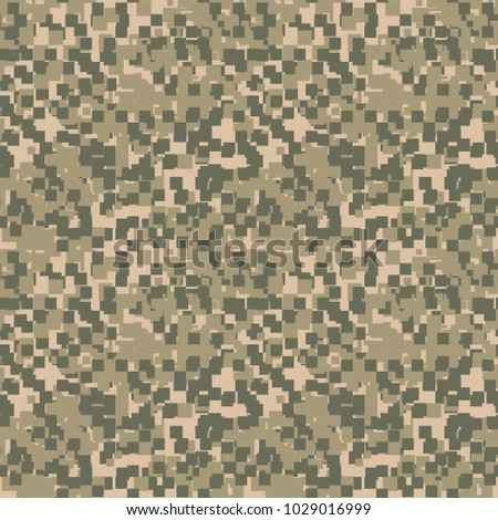Green Beige And Khaki Digital Camouflage Is A Seamless Pixel Pattern That Can Be Used