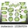 green bio sale labels set  - stock vector