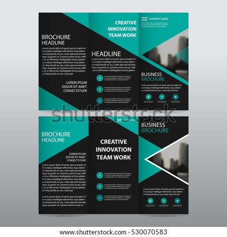 Tri fold brochure design stock images royalty free images for Black brochure template
