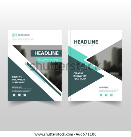 Green black Vector annual report Leaflet Brochure Flyer template design, book cover layout design,