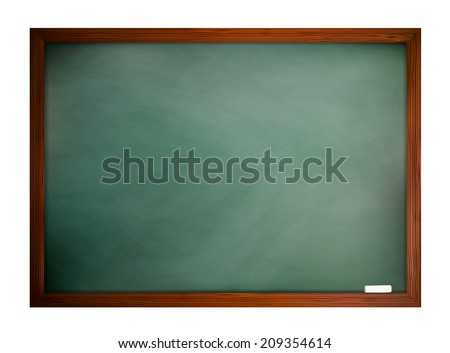 Green blackboard frame isolated on a white background, vector eps10 illustration