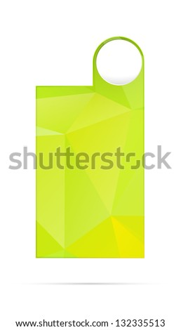 Green blank template with abstract polygon pattern ready for your text / blank polygon style template