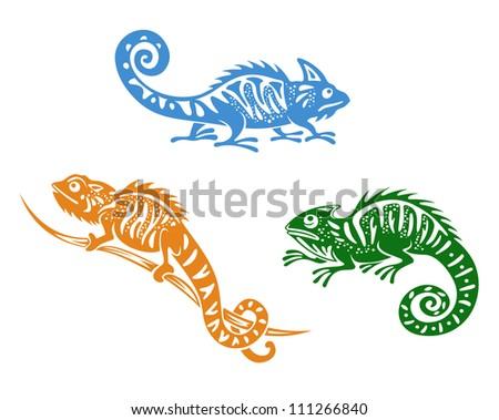 Green chameleon logo - photo#23