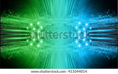 green blue Light Abstract Technology background for computer graphic website internet business. circuit. illustration. infographics. motion move blur.neon. Brainstorm, Brain. Bulb Ideas - stock vector