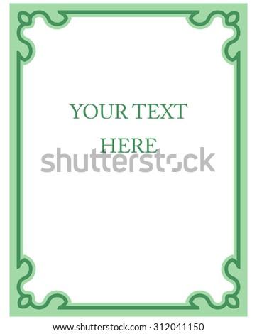 Green Line Basic : green border frame deco vector art stock vector 312041315 shutterstock ~ Frokenaadalensverden.com Haus und Dekorationen