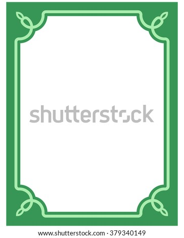 green border frame deco vector art stock vector royalty free 379340149 shutterstock. Black Bedroom Furniture Sets. Home Design Ideas
