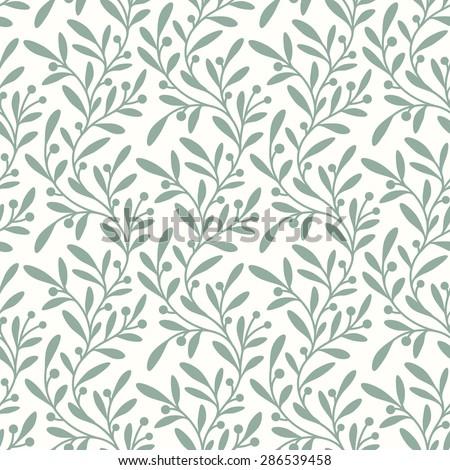 Green Branch. Seamless Pattern. - stock vector