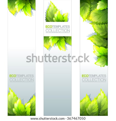 Green Bright Editable Template For Eco, Natural, Spring And Fresh Theme  Editable Leaf Template