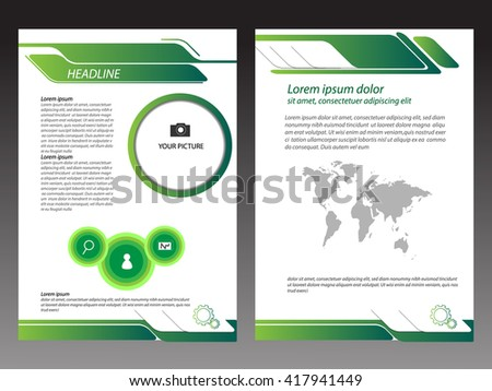 Green Brochure Template Layout Design Stock Vector Hd Royalty Free