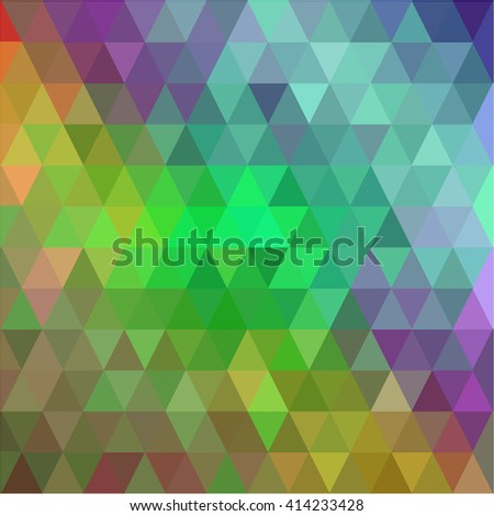 Green brown purple triangle background